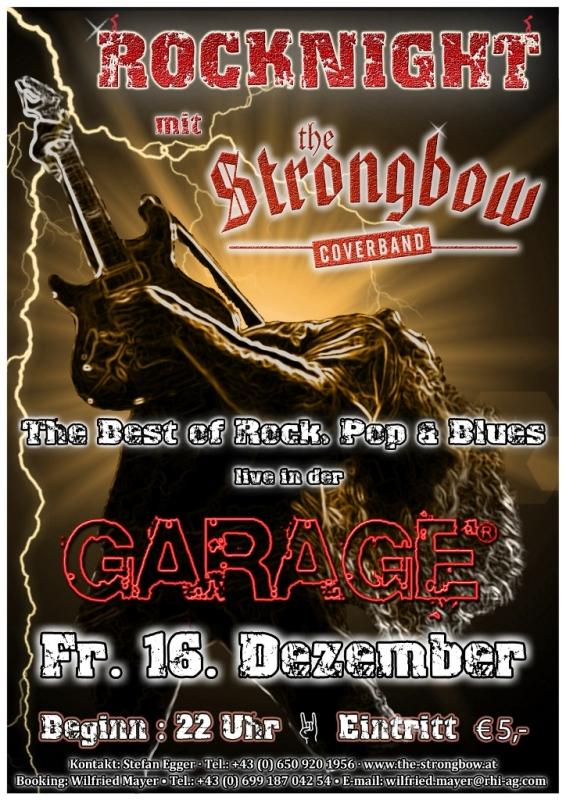 Strongbowplakat Garage