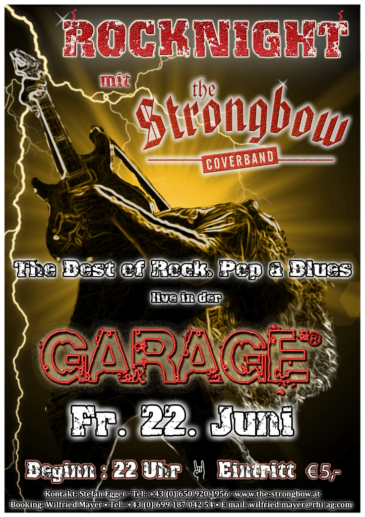Strongbowplakat Garage 22.06.2012