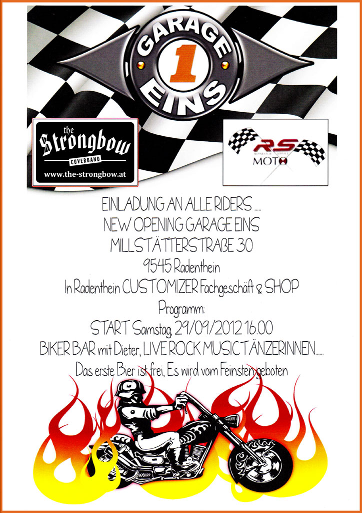 Coverband Strongbow Plakat - Live in Radenthein 2012